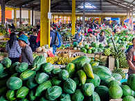 Markt in Nord-Sulawesi – Indonesien