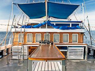 Tauchdeck der MSY Seahorse – Safariboot in Raja Ampat