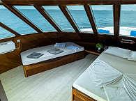 Luxus-Kabine mit Panoramablick auf dem Oberdeck