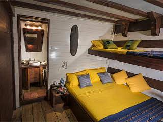 Kabine mit Zusatzbett auf der Ambai