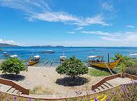 fantastische Sicht auf die vorgelagerte Insel Maricaban