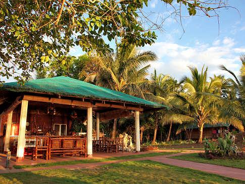 Das halboffene Restaurant des Resorts