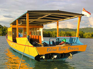 Tauchboot- Blue Bay Divers Resort, Sulawesi
