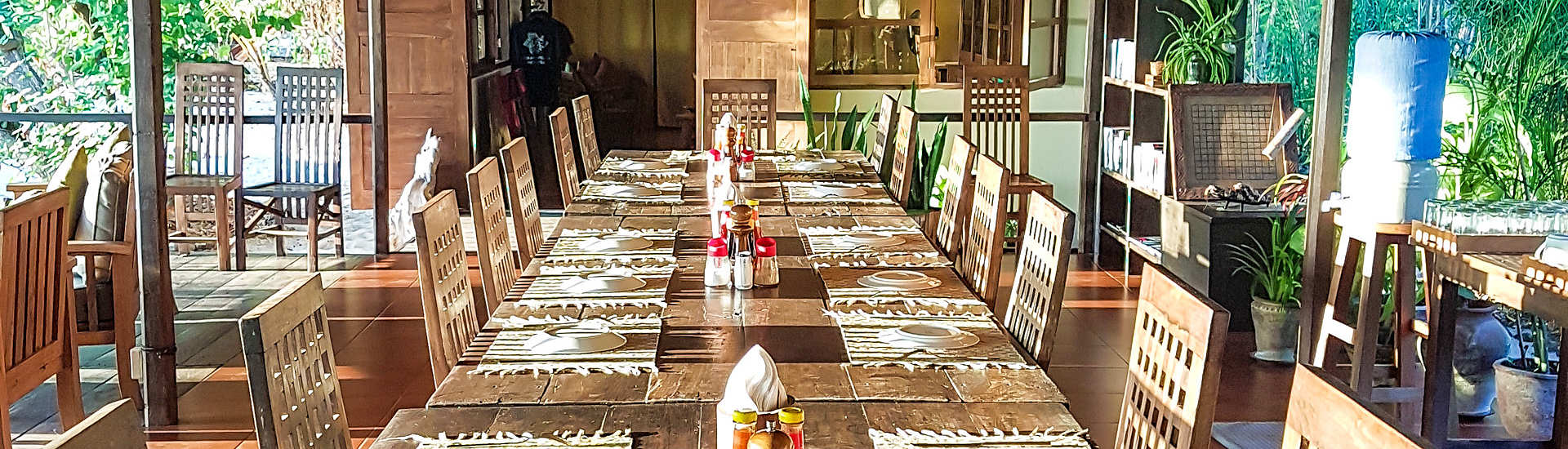 Offenes Restaurant der Alor-Divers