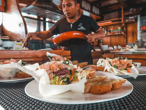 gesund und exzellent – die Küche auf der Calico Jack