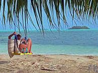 Strand auf Carp Island