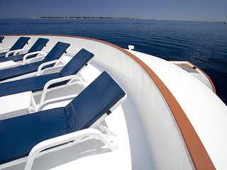 Sonnendeck der Carpe Diem – Tauchkreuzfahrtschiff Malediven