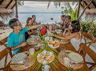Frühstück in der Coconut Lodge