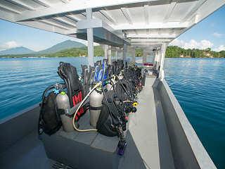 Boot des Dive Center