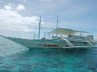 Traditionelle Banka – Tauchboot der Tauchbasis Devocean