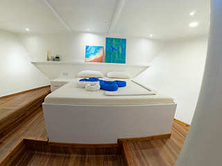Deluxe-Kabine der Eco Blue – Safariboot Malediven