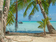 typischer Strandblick im Süden Fakaravas
