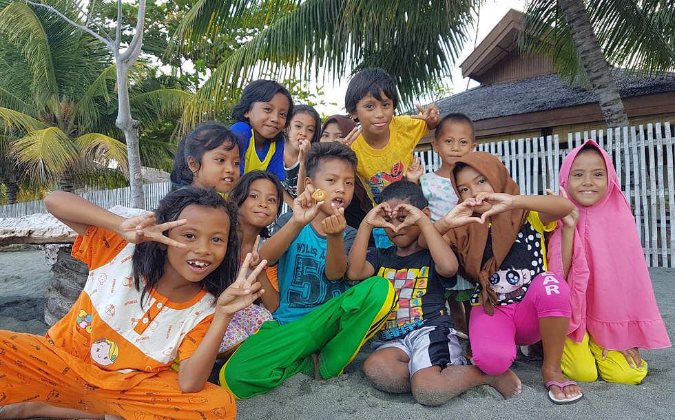 Balantaks Dorf-Kinder