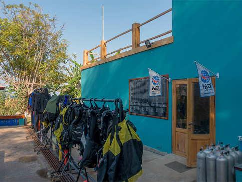 Tauchbasis des Kalimaya Dive Resorts