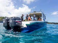 Tauchboot des Resorts