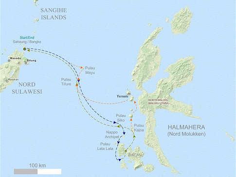 Tauchsafaris auf den Malediven – Übersichtskarte
