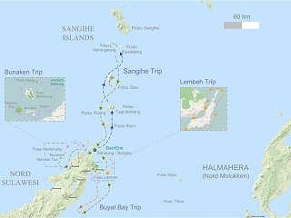 Tauchsafari Map Nord Sulawesi & Sangihe | © OpenStreetMap-Mitwirkende