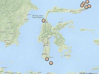 Übersichtskarte Sulawesi - Indonesien | Quelle: © OpenStreetMap
