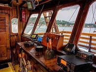 die Brücke des Tauchschiffs