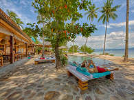 Am Pool des Kuda Laut Boutique Resort