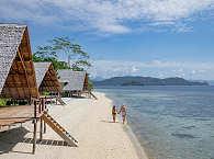 Am einsamen Strand des Kusu Island