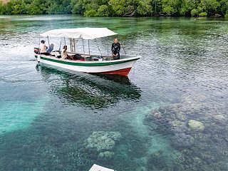Tauchboot der Kusu Island Divers