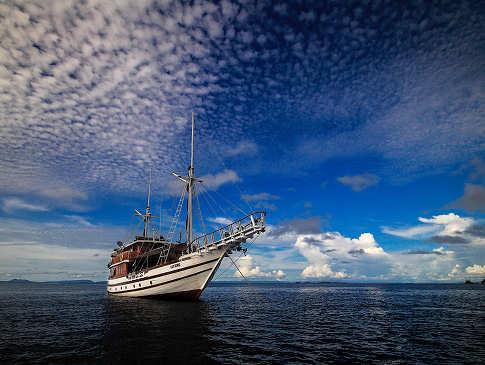 Die Lady Denok auf See