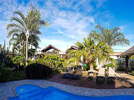 Gartenanlage des Le Relais Fenua auf Tahiti