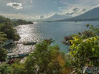 Blick auf die Lembeh Strait