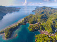 Die Lembeh Strait aus der Vogelperspektive
