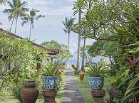 Gartenanlage der Lotus Bungalows
