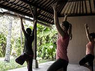 Yoga-Pavillon des Tauchresorts