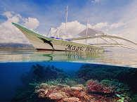 Bangka der Magic Island Divers