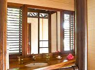 Badezimmer im Lagoon Bungalow