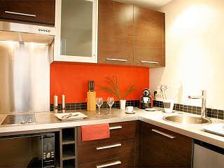 Küche des Lagoon Apartements