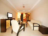 Wohnraum mit Schlafsofa einer Suite