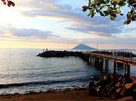 Blick auf den Manado Tua Vulkan
