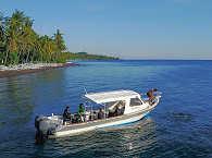 """Tauchboot """"Bornella"""" der Tauchbasis """"Markisa Divers"""" auf Bali"""