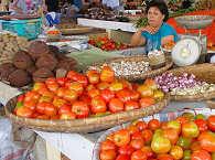 Markt im Minahasa Hochland