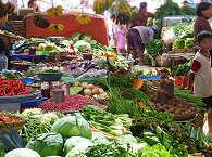 Traditioneller Markt auf Nord Sulawesi