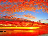Sonnenuntergang auf Moorea, Französisch Polynesien