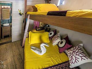 Twin-Bett-Kabine auf der Ambai