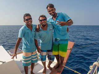 Crew der MY Sheena Malediven