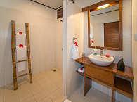 Badezimmer auf europäischem Standard
