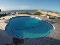 Blick von der Nyati Beach Lodge