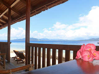 Blick auf die Berge Nord Sulawesis