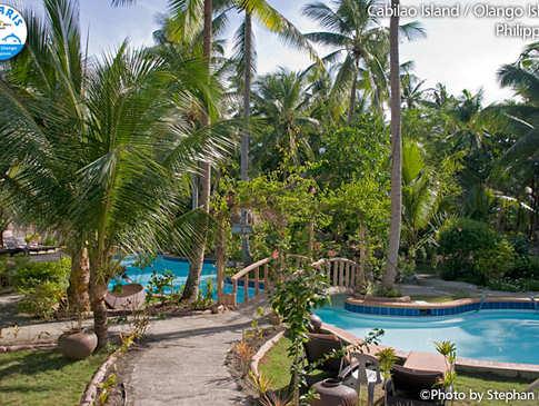 Poolanlage Im Polaris Beach Resort – Cabilao, Philippinen