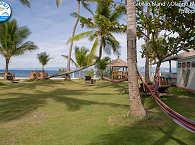 Gartenanlage mit Blick aufs Meer – Polaris Beach Resort
