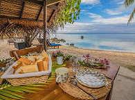 Frisch auf den Tisch in der Coconut Lodge – Französisch Polynesien