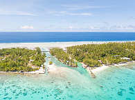Traumhafte Lagune von Rangiroa – Französisch Polynesien